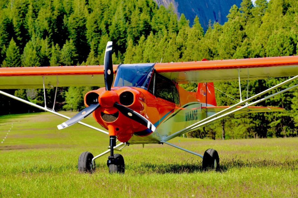 Orange CubCrafters' NXCub with 3-blade Pathfinder