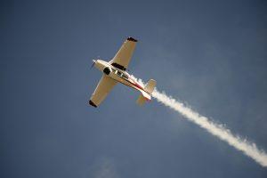 Jim Peitz's Beechcraft Bonanza Performing Aerobatics turning upside down