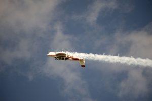 Jim Peitz's Beechcraft Bonanza Performing Aerobatics upside down
