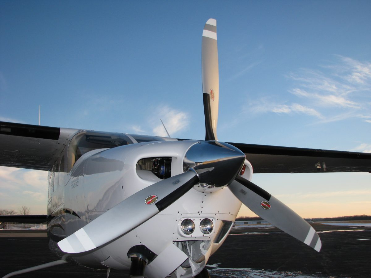 Aircraft Propeller on a Cessna airplane