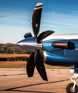 DAHER TBM 5-blade propeller