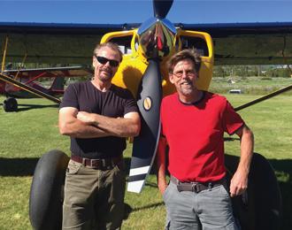 "Kasey ""Bonecrusher"" Lindsay and Bob ""Hurricane"" Hannah of Northwest Backcountry Aircraft LLC"