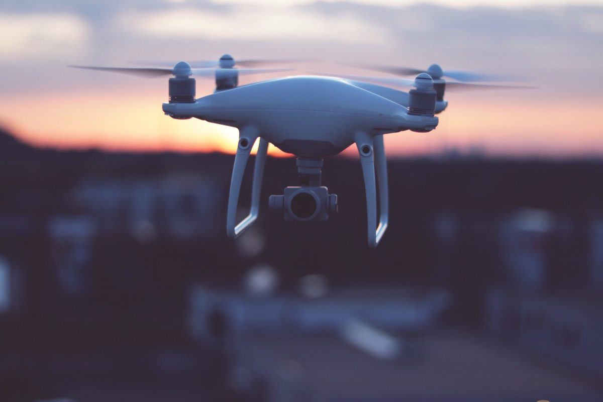 Close-Up Of Drone Flying Against Sky
