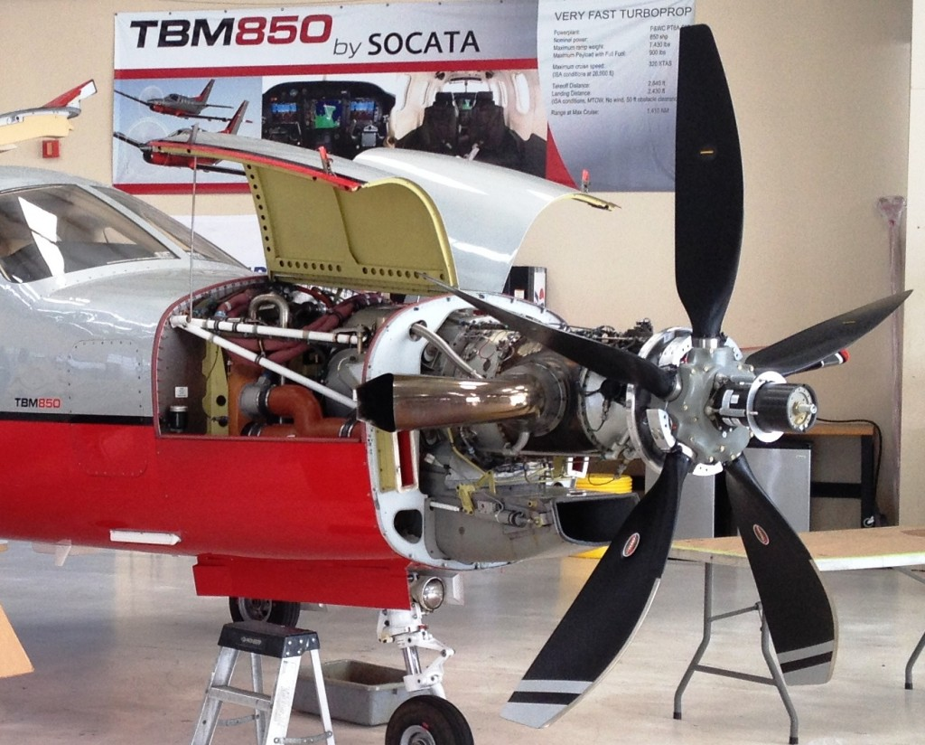 First installation of the new higher performance Hartzell prop on a European registered aircraft was performed at the Socata North America, Inc., Service Center in Pembroke Pines, Fla.
