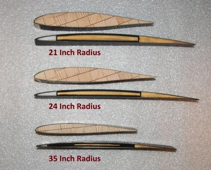 Hartzell's High Performance Thinner, Aerodynamic-Grade Composite Blade Cross Section Compared to Wood-Grade Profile