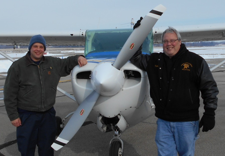(L-R) Josh Eyering, Kent State University Aircraft Maintenance Manager, and Mike Trudeau, Hartzell Top Prop Program and Modifier Account Manager