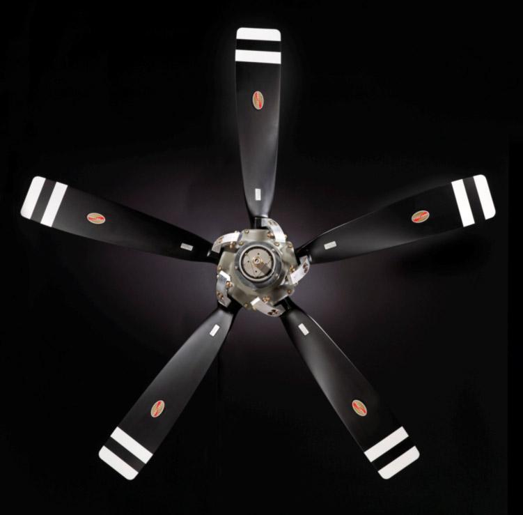 5 Propeller Fan : Aluminum propellers turboprop engine aircraft hartzell