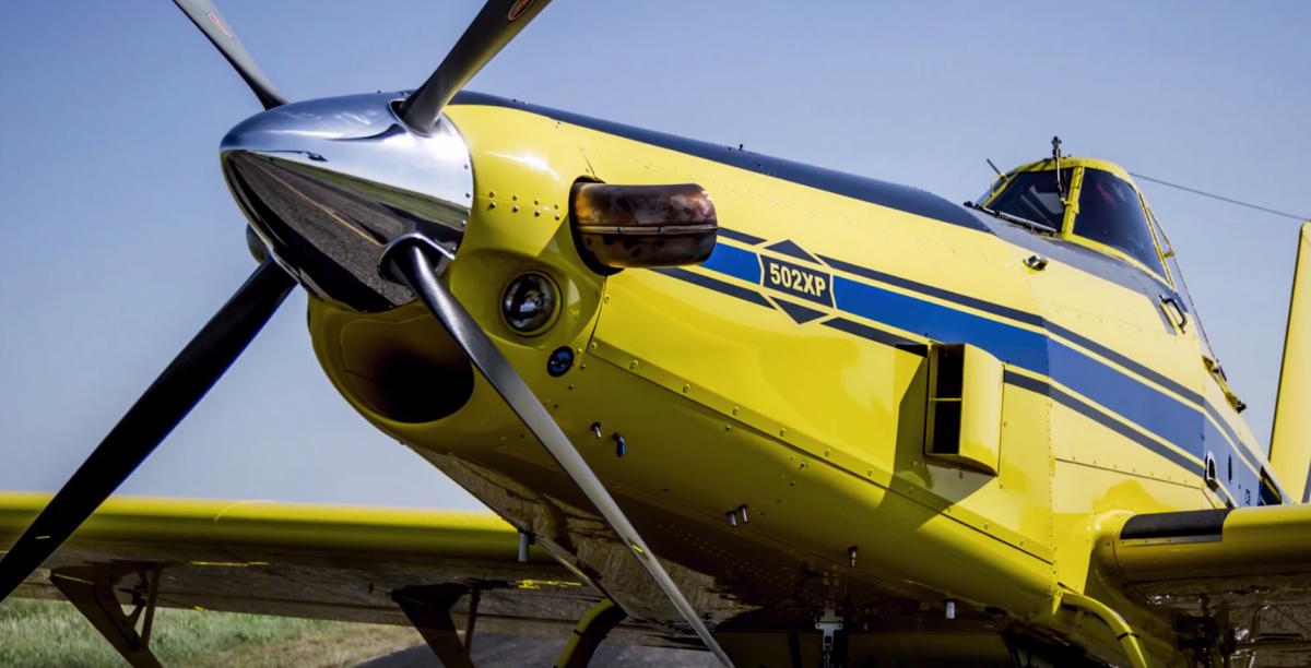 Yellow Hirsch Air Tractor Aviation airplane
