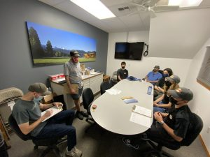 Group of students in conference room