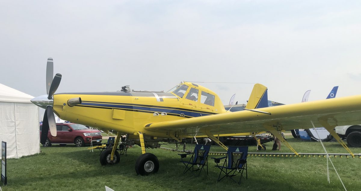 Yellow Agricultural aircraft at Oshkosh 2021