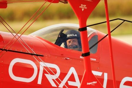 Sean D. Tucker Practices His Airshow Routine at Piqua Airport -- Hartzell Field in Ohio