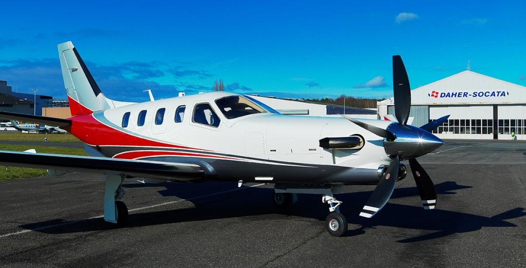 TBM 900 with Hartzell Prop at DAHER-SOCATA Factory in Tarbes, France.