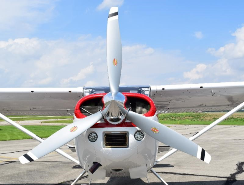 Hartzell Propeller President Joe Brown's Cessna A185 with new 3-blade aluminum Voyager prop will be on static exhibit at EAA AirVenture 2019