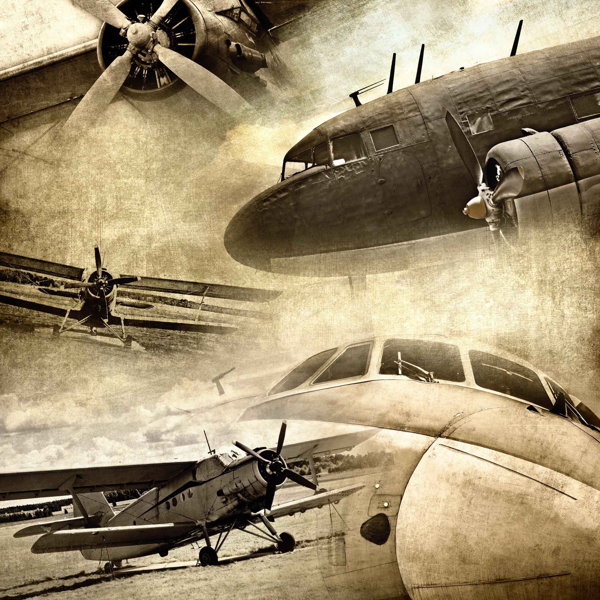 Famous Vintage Airplane Wall Art Collection - The Wall Art ...
